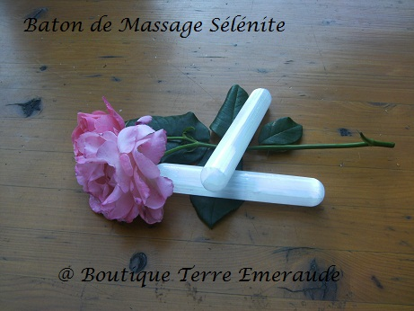 baton de massage Sélénite