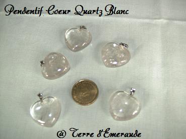 pendentif quartz blanc